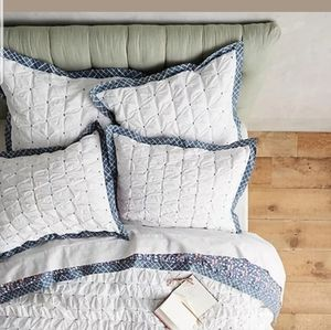 Anthropologie Madia Collection Pair Shams